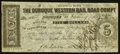 Obsoletes By State:Iowa, Dubuque, IA- Dubuque Western Rail Road Compy. $5 Post Note Jan. 15,1858 Oakes 53-5. ...