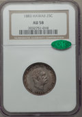 Coins of Hawaii: , 1883 25C Hawaii Quarter AU58 NGC. CAC. NGC Census: (109/912). PCGSPopulation (139/1198). Mintage: 500,000. ...