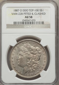 Morgan Dollars, 1887-O $1 Doubled Die Obverse, Pitted Reverse & Clashed,VAM-22B, AU58 NGC. TOP-100. PCGS Population (1...