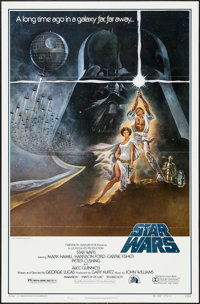 "Star Wars (20th Century Fox, 1977). One Sheet (27"" X 41"") Flat Folded Style A. Science Fiction"