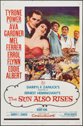 """Movie Posters:Drama, The Sun Also Rises (20th Century Fox, 1957). One Sheet (27"""" X 41"""") and Lobby Card Set of 8 (11"""" X 14""""). Drama.. ... (Total: 9 Items)"""