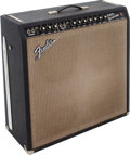 Musical Instruments:Amplifiers, PA, & Effects, 1966 Fender Super Reverb Black Guitar Amplifier, Serial # A17407....