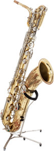Musical Instruments:Horns & Wind Instruments, 1966 Conn Elkhart Brass Baritone Saxophone, Serial # H33759....