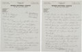Baseball Collectibles:Others, 1941 Cum Posey Handwritten Signed Letter with Josh GibsonContent....
