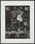 Basketball Collectibles:Photos, Circa 1990's Wilt Chamberlain & Bill Russell Signed MagazinePage....