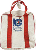 Basketball Collectibles:Others, 1974-76 Kentucky Colonels Equipment Bag Used by the Trainer DuringChampionship Season....