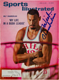 Basketball Collectibles:Programs, 1960-65 Wilt Chamberlain Signed Publications Lot of 2. ...