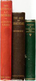 Books:Literature Pre-1900, Algernon Charles Swinburne. Poems and Ballads. London: JohnCamden Hotten, 1866. ... (Total: 3 Items)