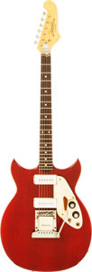 Musical Instruments:Electric Guitars, 1968 Microfrets Signature Cherry Solid Body Electric Guitar, Serial# 2451....