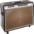 Musical Instruments:Amplifiers, PA, & Effects, 1969 Fender No Master Volume Twin Reverb Black Guitar Amplifier....