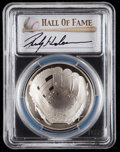 Baseball Collectibles:Others, 2014 Rickey Henderson Signed Baseball Hall of Fame Silver DollarPCGS PR70DCAM Coin. ...