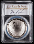 Baseball Collectibles:Others, 2014 Doc Gooden Signed Baseball Hall of Fame Silver Dollar PCGSPR70DCAM Coin. ...