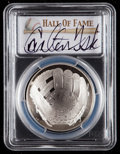 Baseball Collectibles:Others, 2014 Carlton Fisk Signed Baseball Hall of Fame Silver Dollar PCGSPR70DCAM Coin. ...