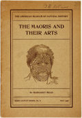 Books:Pamphlets & Tracts, Margaret Mead. The Maoris and Their Arts. Guide Leaflet No.71. New York: The American Museum of Natural History, Ma...