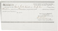 Miscellaneous:Ephemera, George Armstrong Custer: An Interesting Receipt for Purchase of aHorse, Made Out to the General....