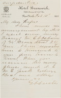 Autographs:Military Figures, George Armstrong Custer: A Signed Longhand Letter Written in that Fateful Year, 1876....