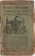 Books:Early Printing, [Early Printing, Periodicals]. The Massachusetts Magazine: or,Monthly Museum of Knowledge and Rational Entertainment. ...