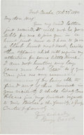 Autographs:Military Figures, General George Crook: Fine Signed Letter by this Famous Indian WarsCommander....