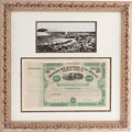 Miscellaneous:Ephemera, Jay Gould: A Western Railroad Stock Certificate Signed by theLegendary Financier....