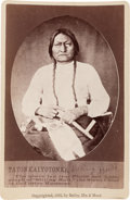 "Photography:Studio Portraits, Sitting Bull: An Iconic 1882 Cabinet Photo of ""the Sioux Chief at the Custer Massacre"" in Pristine Condition...."