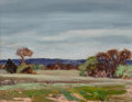 Paintings, Reveau Bassett (American, 1897-1981). Field Sketch with Class. Oil on canvasboard. 8 x 10 inches (20.3 x 25.4 cm). Signe...
