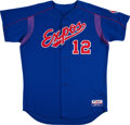 Baseball Collectibles:Uniforms, Circa 2003 Wil Cordero Game Worn Montreal Expos Batting Practice Jersey. ...