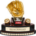Baseball Collectibles:Others, 2007 Fiftieth Anniversary Gold Glove Award from The Brooks Robinson Collection....