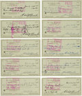 Baseball Collectibles:Others, 1970-86 Edd Roush Signed Checks Lot of 102....