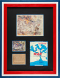 "Non-Sport Cards:Other, 1941 R164 Gum Inc., War Gum #4 ""Dying Captain Carries On"" Original Art and Card Display. ..."