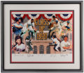 Baseball Collectibles:Others, 1999 Baseball HOF Class Multi Signed Print....
