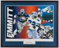 Football Collectibles:Others, Emmitt Smith Signed Lithograph....