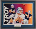 Football Collectibles:Others, Troy Aikman Signed Lithograph....