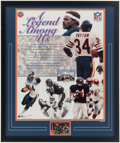 Football Collectibles:Others, Walter Payton Signed Display....