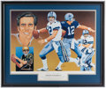 Football Collectibles:Others, Roger Staubach Signed Lithograph....