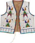 American Indian Art:Beadwork and Quillwork, A Sioux Beaded Hide Vest....