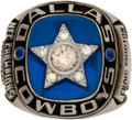 Football Collectibles:Others, 1971 Dallas Cowboys NFC Championship Ring Presented to Craig Morton. ...
