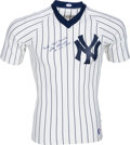 Baseball Collectibles:Uniforms, 1980's Joe Sewell Signed New York Yankees Jersey. ...
