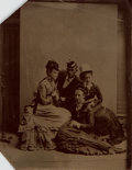 Photography:Tintypes, Unframed Tintype Depicting Unidentified Mixed Gender Group. [n.d.,circa 1870]. ...