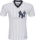 Baseball Collectibles:Uniforms, 1980's Ben Chapman Signed New York Yankees Jersey....