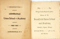 Miscellaneous:Ephemera, Pair of Nineteenth-Century School Programs. Dated 1891 and 1897....