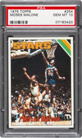 Basketball Cards:Singles (1970-1979), 1975 Topps Moses Malone #254 PSA Gem Mint 10....