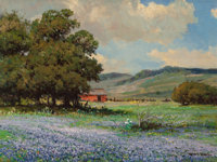 Robert William Wood (American, 1889-1979) Texas Spring Oil on canvas 18 x 24 inches (45.7 x 61.0