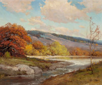 Robert William Wood (American, 1889-1979) Guadalupe River Oil on canvas 25-1/4 x 30-1/4 inches (6
