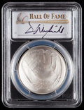 Baseball Collectibles:Others, 2014-P $1 Baseball Hall of Fame Silver Dollar, Dave WinfieldSignature MS70 PCGS....