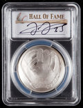 Baseball Collectibles:Others, 2014 Frank Thomas Signed Baseball Hall of Fame Silver Dollar PCGSMS70 Coin. ...