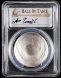 Baseball Collectibles:Others, 2014 Jimmy Piersall Signed Baseball Hall of Fame Silver Dollar PCGSMS70 Coin. ...