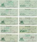 Baseball Collectibles:Others, Circa 1970 Heinie Manush Signed Checks Lot of 76....