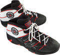 Basketball Collectibles:Others, Circa 1997-98 Dennis Rodman Game Worn, Signed Chicago BullsSneakers....