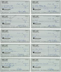 Basketball Collectibles:Others, 1993-94 Bob Cousy Signed Checks Lot of 100. ...