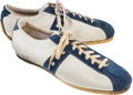 Football Collectibles:Others, Early 1970s Turf Shoes Signed by O.J. Simpson....
